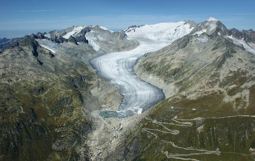 Ронский ледник, Швейцария