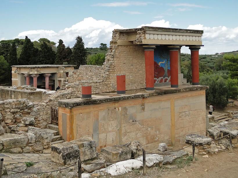 Развалины Кносского дворца на о. Крит