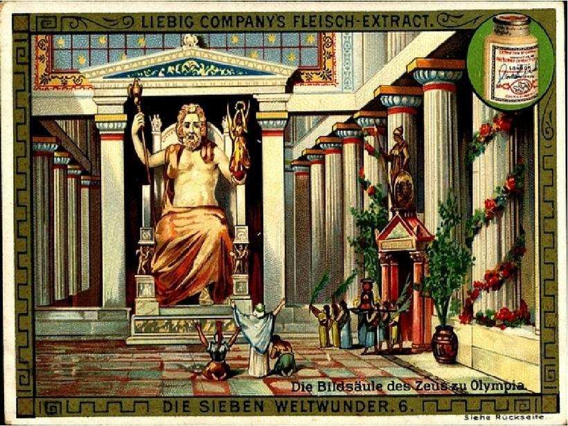 Статуя Зевса в Олимпии — одно из утраченных чудес древнего мира