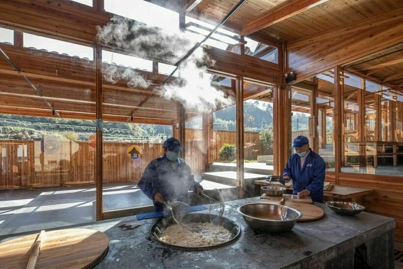 Самый красивый завод находится в Китае, и здесь производят тофу