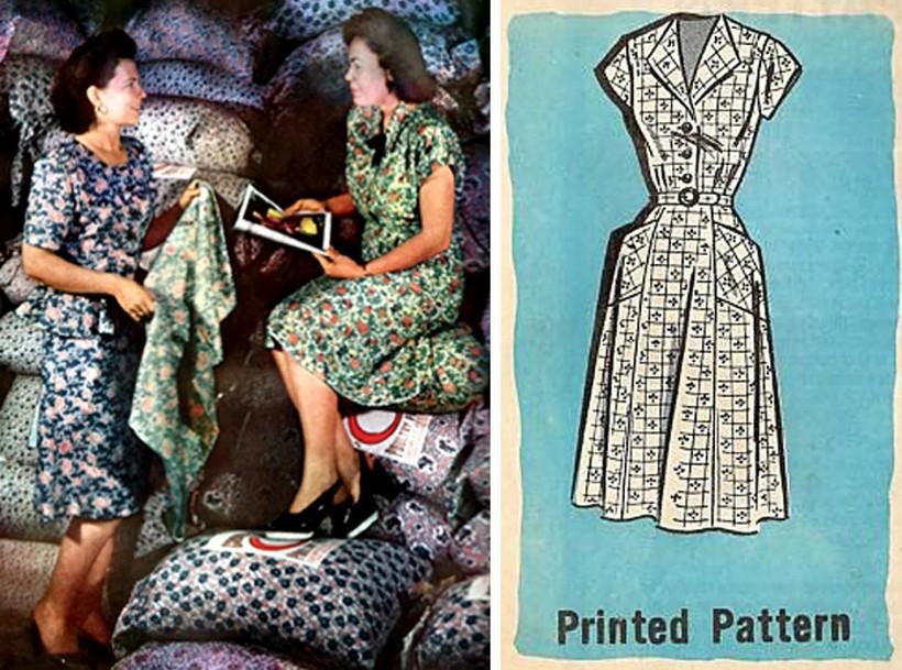 Ткань мешков со временем стала действительно красивой и нравилась покупательницам