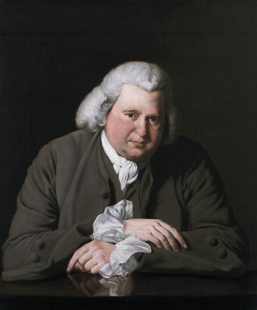 Портрет Эразма Дарвина, 1770 г. Джозеф Райт
