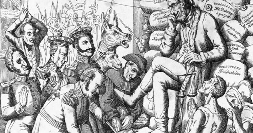 Одна из карикатур на Ротшильда
