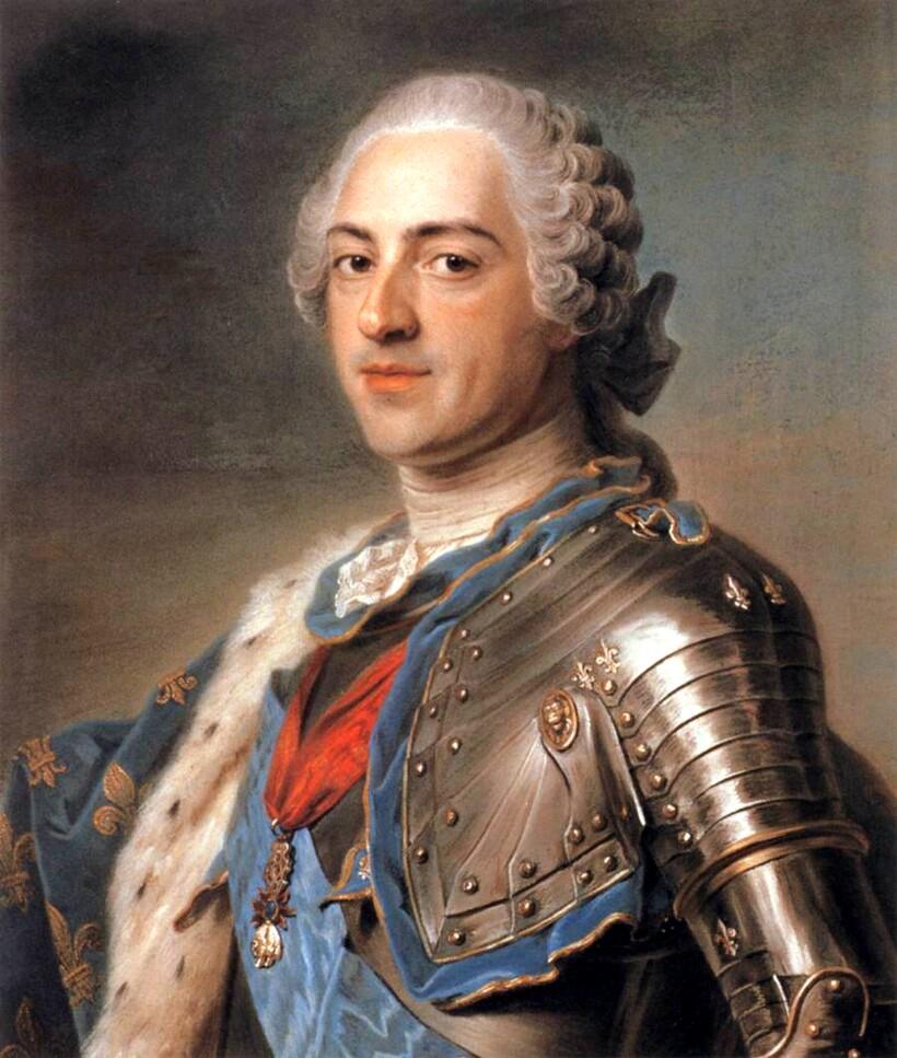 Король Франции Людовик XV, 1748 г. Маурис-Кантен де ла Тур
