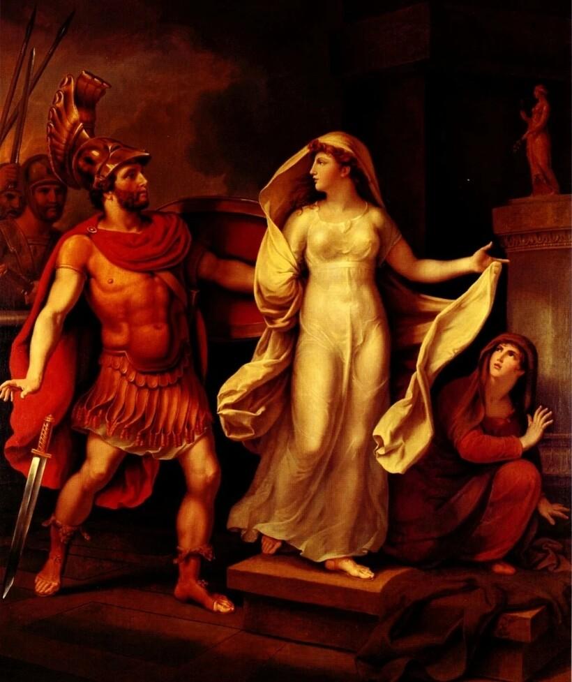 «Менелай и Елена», 1816 г. Иоганн Тишбейн