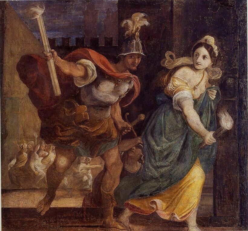 «Александр и Таис поджигают Персеполис», ок. 1592 г. Л. Карраччи. Палаццо Франча, Болонья