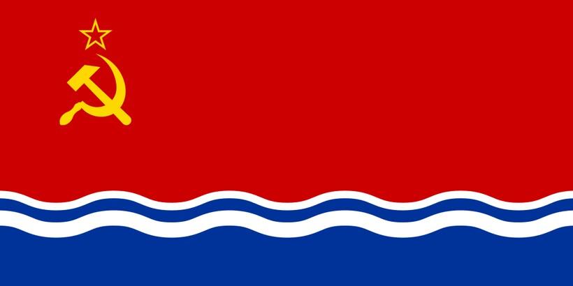 Флаг Латвийской Республики в СССР