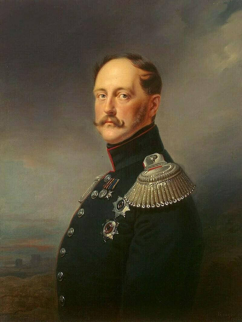 Портрет императора Николая I, 1852 г. Франц Крюгер. Государственный Эрмитаж