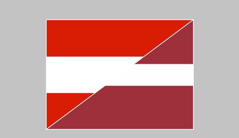 Сравнение нового и старого флагов Латвии