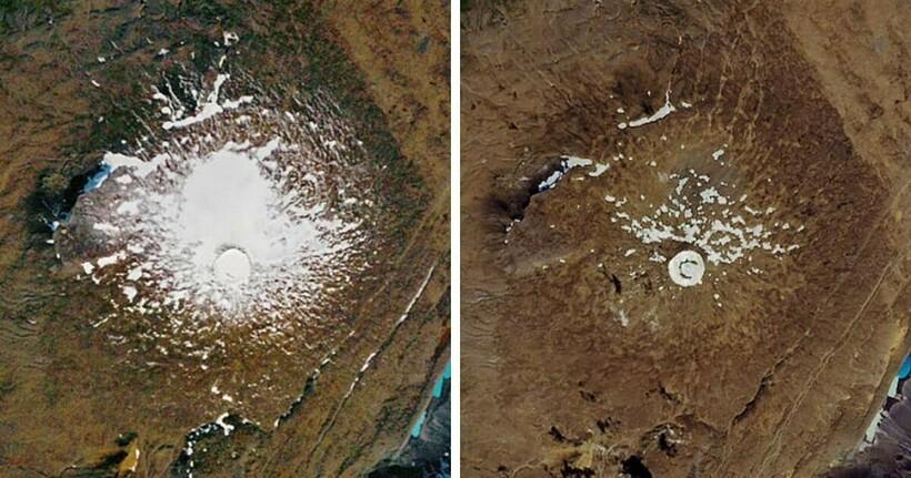 14 пар снимков со спутников NASA, которые показывают, как изменилась наша планета