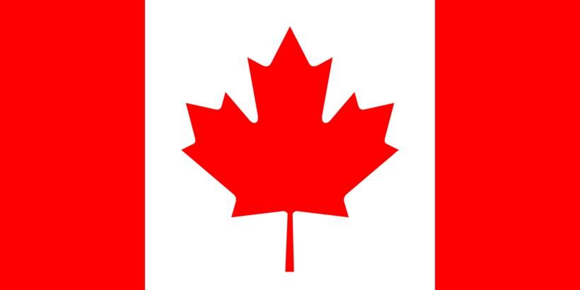Фото современного флага Канады