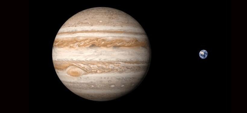 Размеры Юпитера и Земли