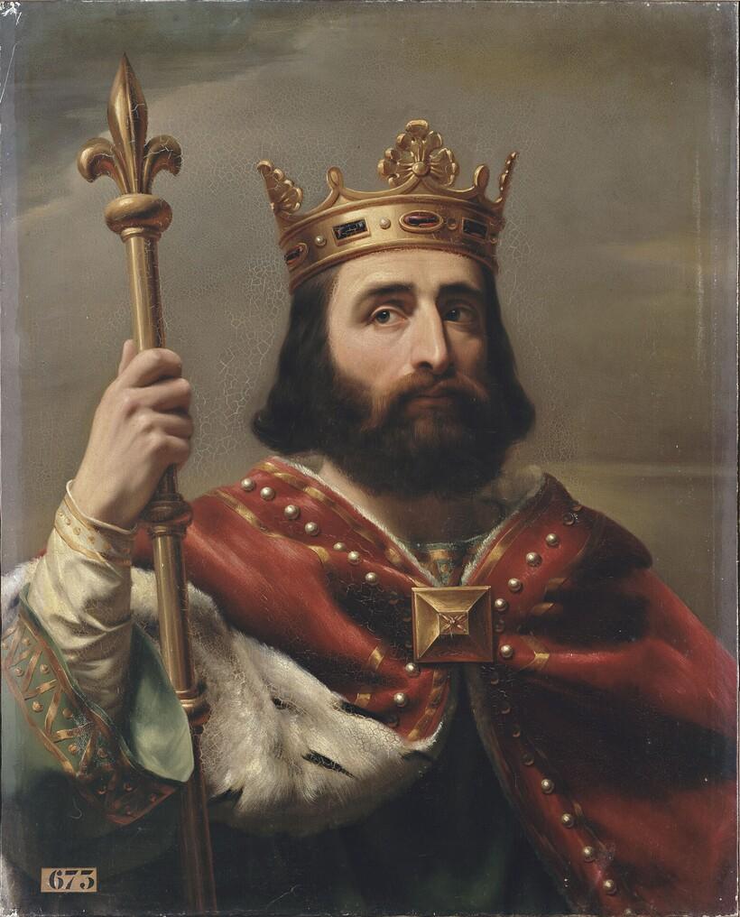 «Пипин III Короткий», 1837 год. Луи-Феликс Амьель