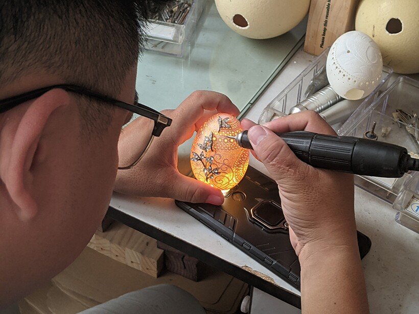 Не только Фаберже: вьетнамский художник творит красоту из обычных яиц