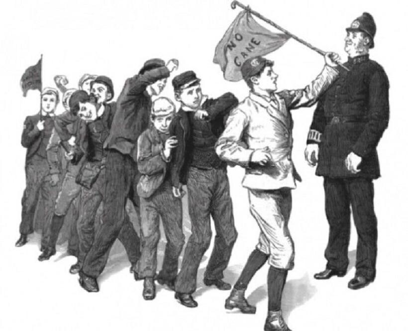 Призывы «Нет трости!» звучали из уст школьников