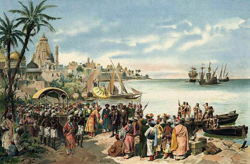 Португальские колонизаторы в Индии