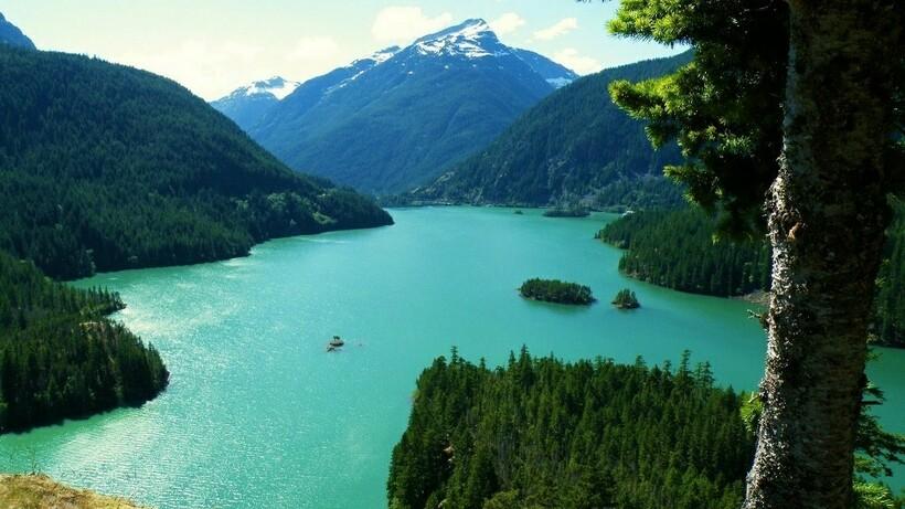 Одно из озер Южной Америки