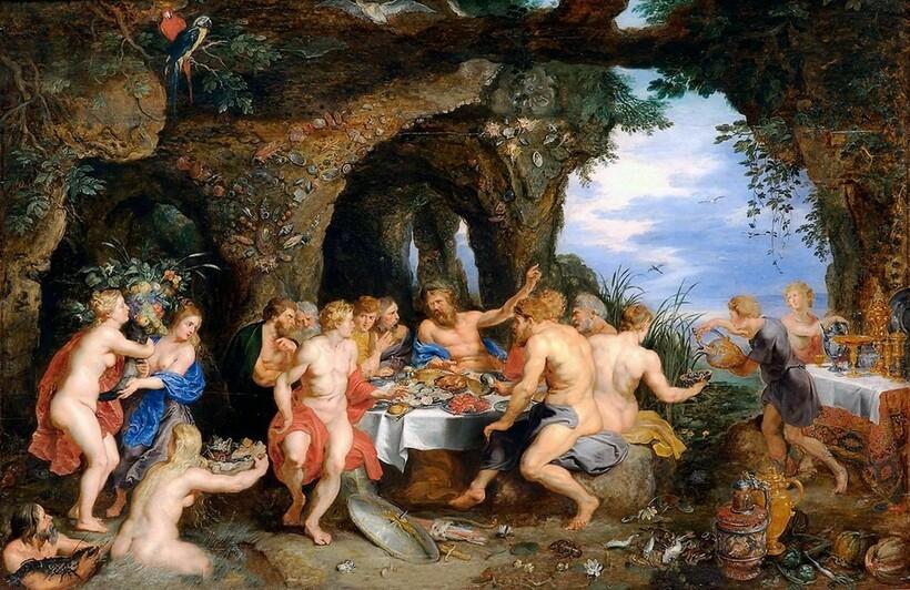 «Пир богов на Олимпе», 1602 г. П. П. Рубенс