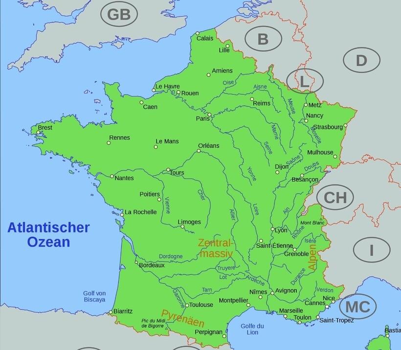 Водная система Франции