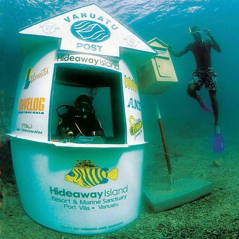 Единственная в мире почта на дне моря и еще 5 необычных мест под водой