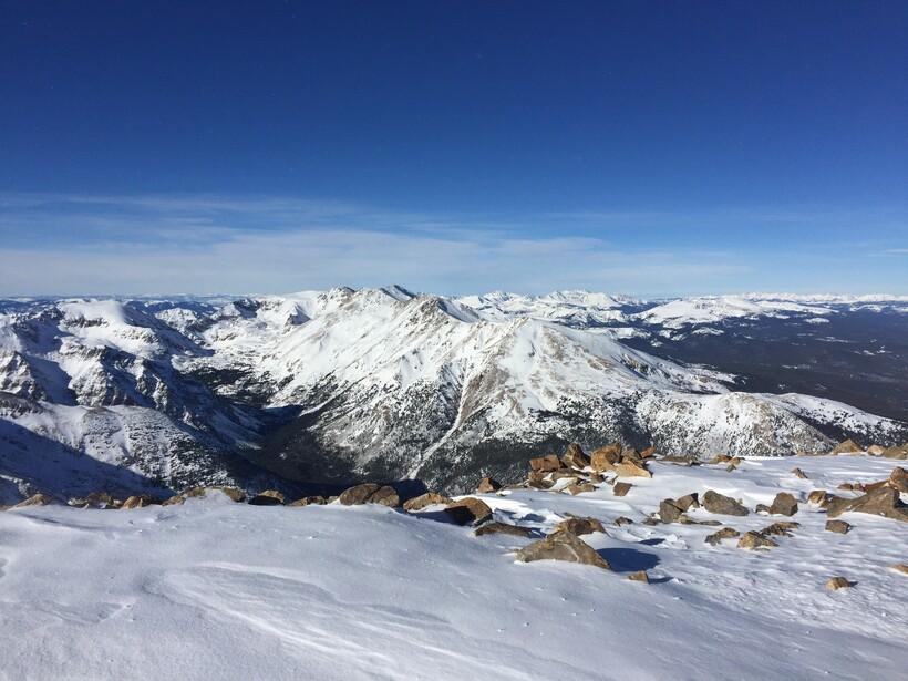 Гора Эльберт зимой
