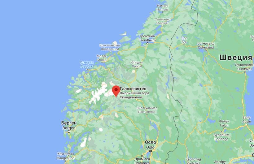 Гора Галлхёпигген на карте