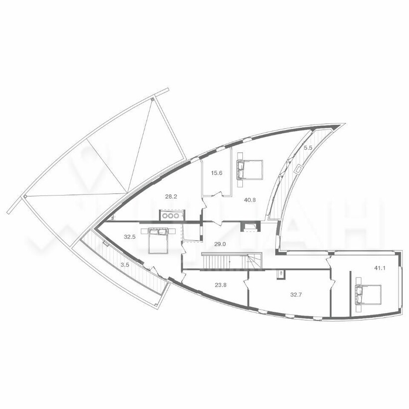 План дома-рыбы
