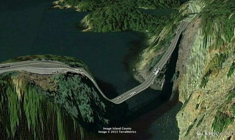 15 фотографий из Google Earth, которые противоречат здравому смыслу