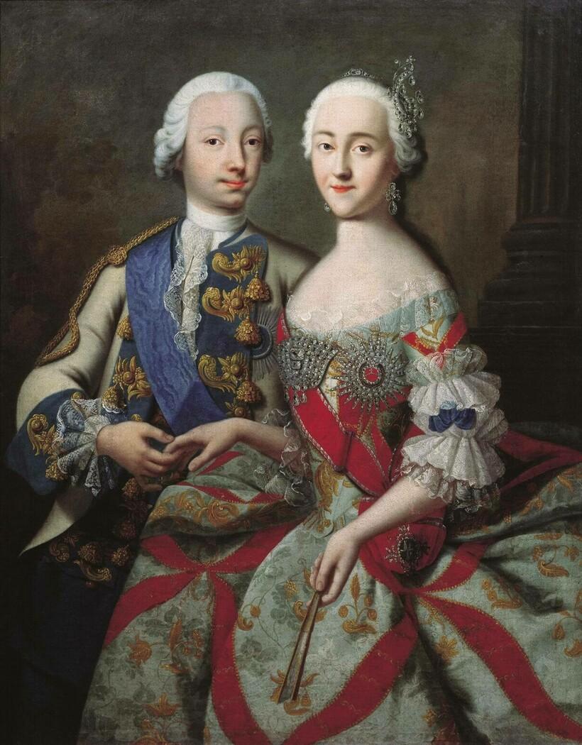 «Цесаревич Петр Федорович и великая княгиня Екатерина Алексеевна», 1740-е. Г. К. Гроот