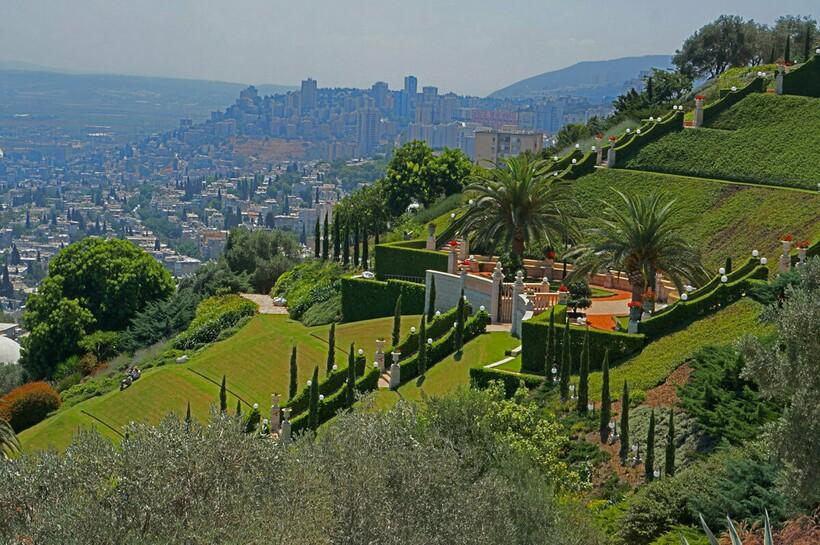 Вид на Хайфу с горы Кармель