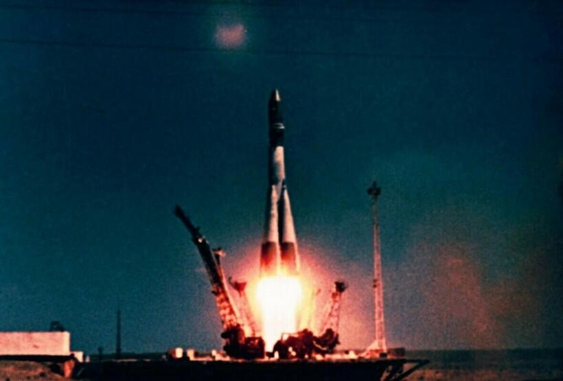 Взлет корабля «Восток-1»