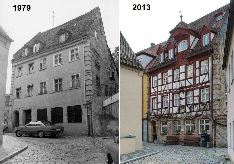 16 фото заброшенных или полуразрушенных строений мира до и после их восстановления