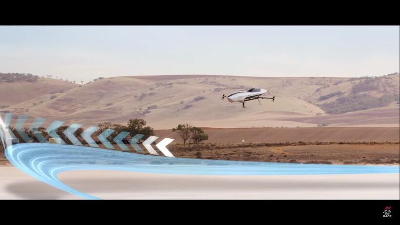 Видео: Летающий автомобиль, разгоняющийся до 100 км/ч за секунды, показали в воздухе