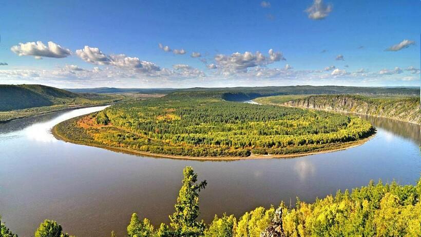Река Мохэ, на берегу которой было найдено золото
