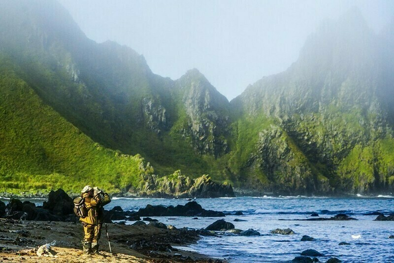 На острове Уруп, одном из крупнейших островов архипелага
