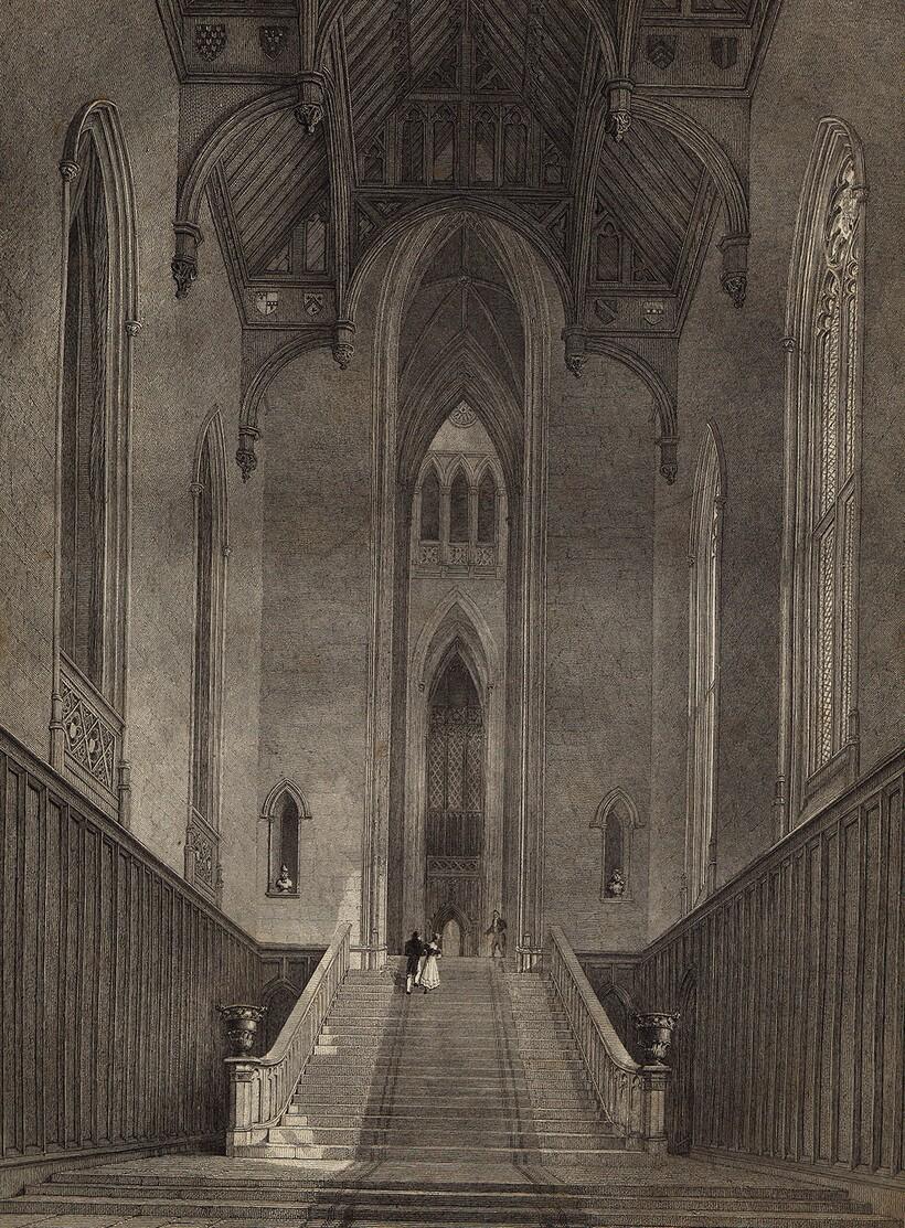 Так выглядел главный холл пустынного аббатства