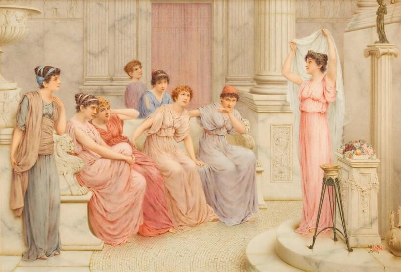 Картина «Женщины Древнего Рима». Джордж Лоуренс Буллейд, XIX век