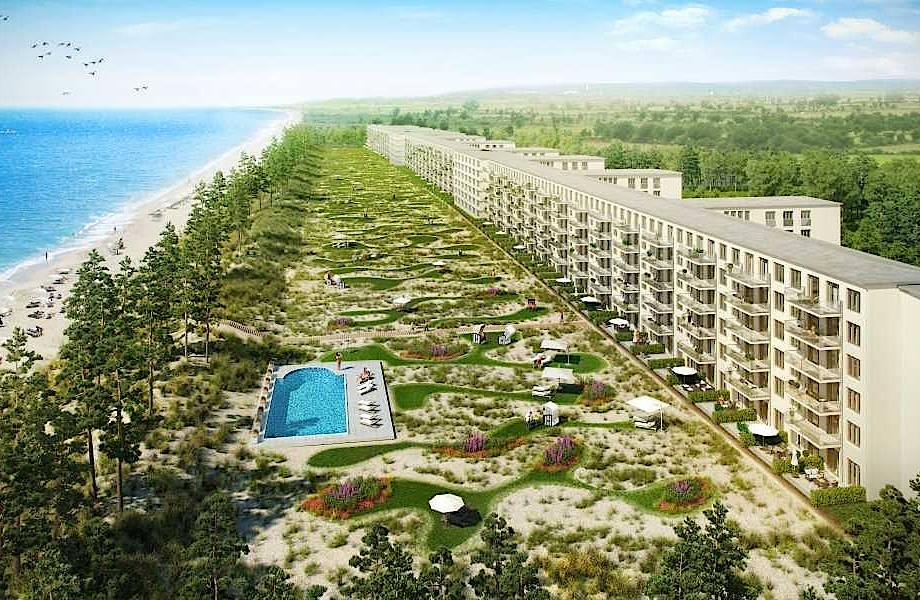 4-километровый заброшенный курорт Гитлера превращается в роскошное место для отдыха