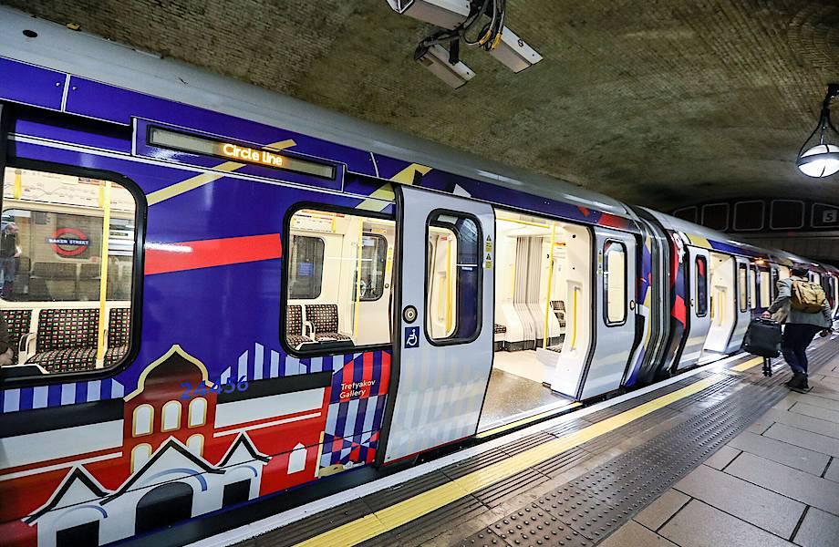 В Лондоне курсирует поезд «Сердце России»