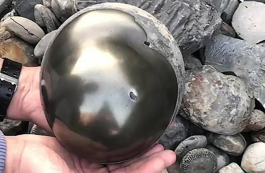 Студент нашел на пляже блестящий шар с ископаемым моллюском возрастом 185 млн лет