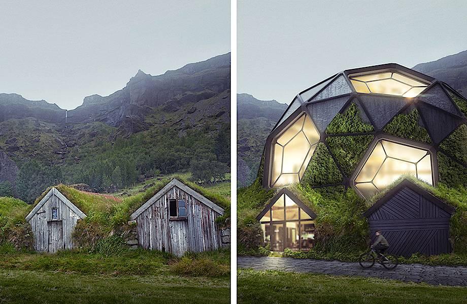 Графические дизайнеры переделали старые дома со всего мира на современный лад
