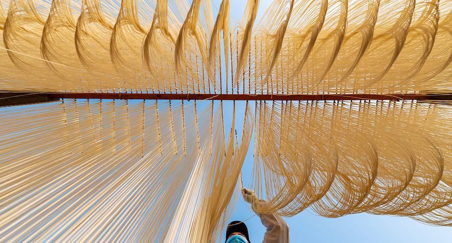 Фото дня: сушка китайской лапши