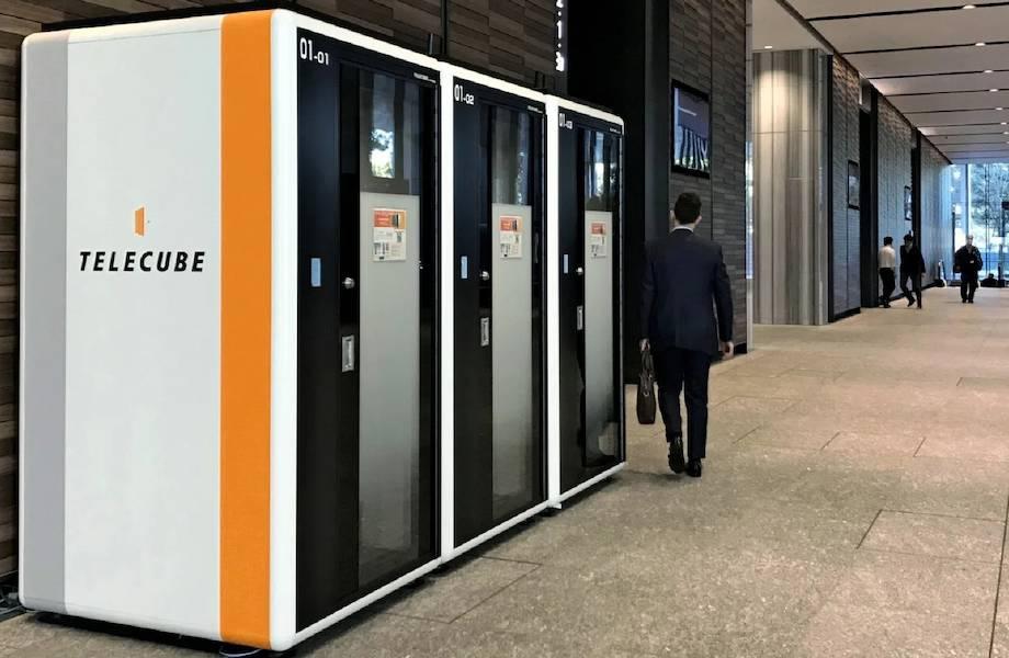 В Японии набирают популярность телекубы ― будки-офисы в торговых центрах и аэропортах