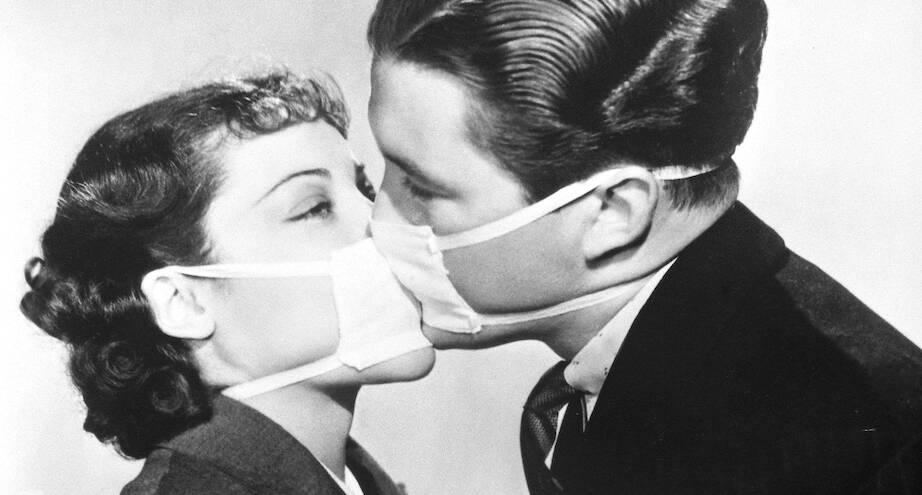 Фото дня: репетиция в Голливуде во время эпидемии гриппа, 1937 год