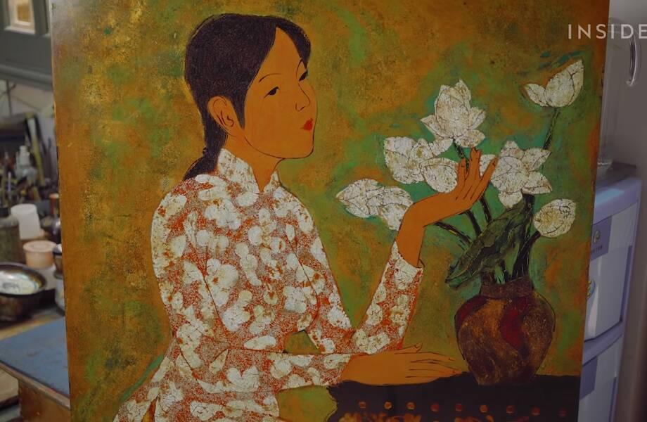Видео: Почему лаковая роспись во Вьетнаме оценивается в $1 000 000 за одну картину