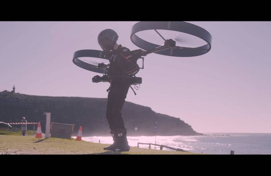 Видео: В Австралии испытали экологически чистое персональное летательное устройство