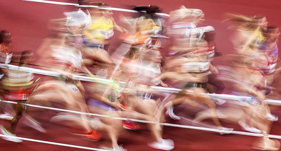 Фото дня: олимпийские бегуны