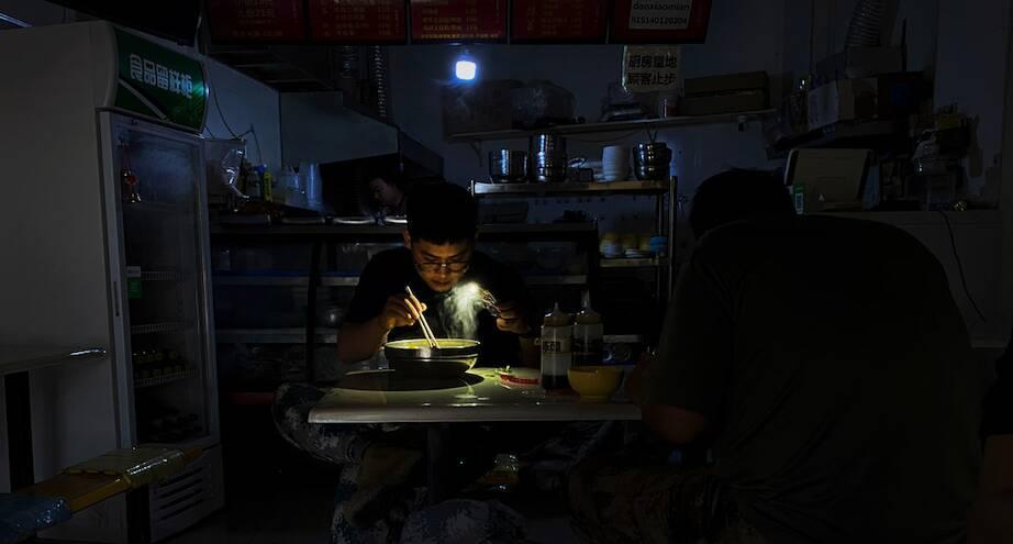Фото дня: массовое отключение света в Китае из-за кризиса