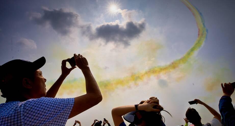 Фото дня: на выставке авиации в Китае