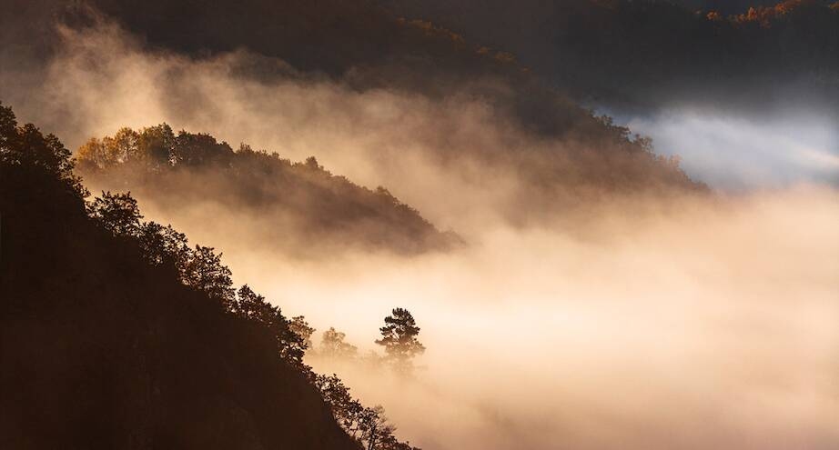 Фото дня: туман в горах Китая